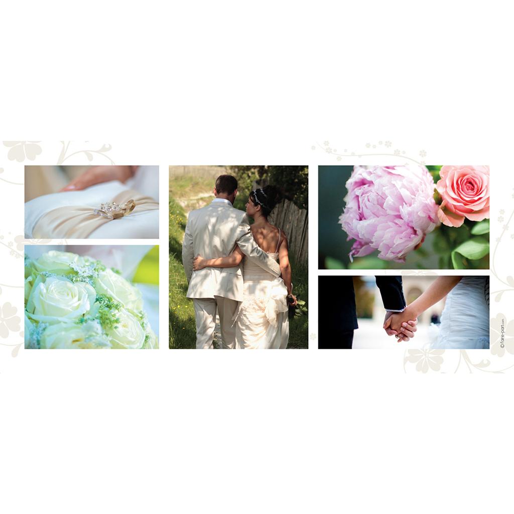 Carte de remerciement mariage Nuptial doré gratuit