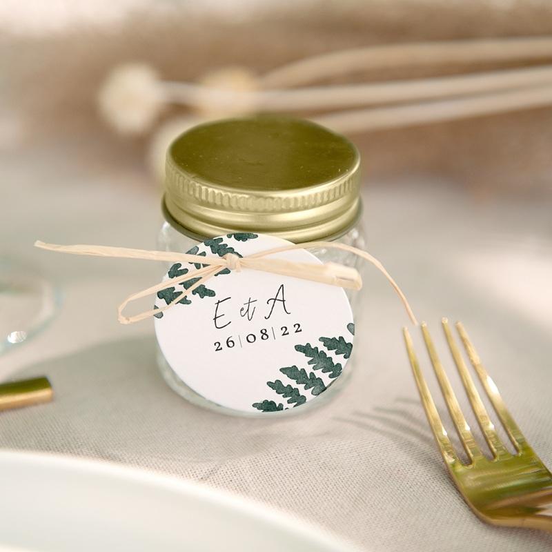 Etiquettes cadeaux mariage Fougères Herbarium cadeau souvenir