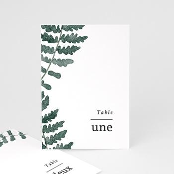 Marque table mariage Fougères Herbarium, lot de 3 repères