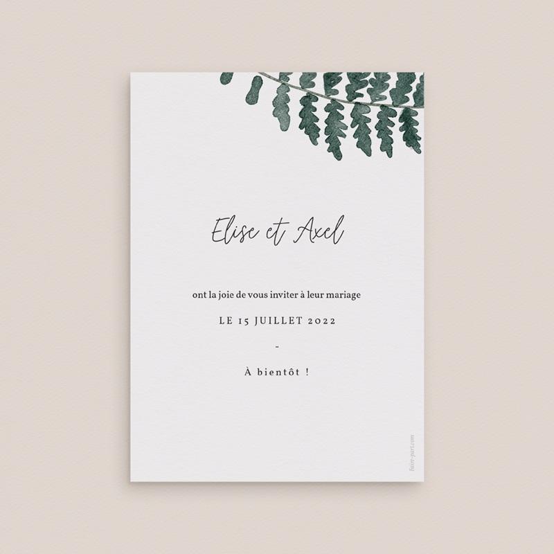 Save-the-date mariage Fougères Herbarium, Jour J pas cher