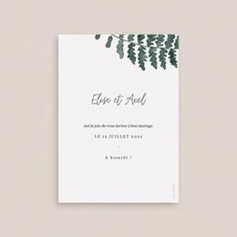Save-the-date mariage Fougères Herbarium, Jour J