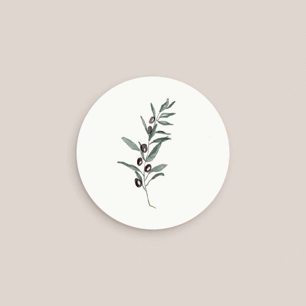 Etiquette enveloppes mariage Olivier Herbarium, sticker pas cher