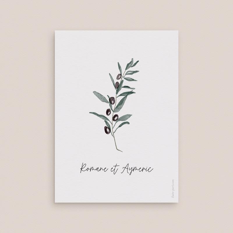 Carton réponse mariage Olivier Herbarium, Rsvp pas cher