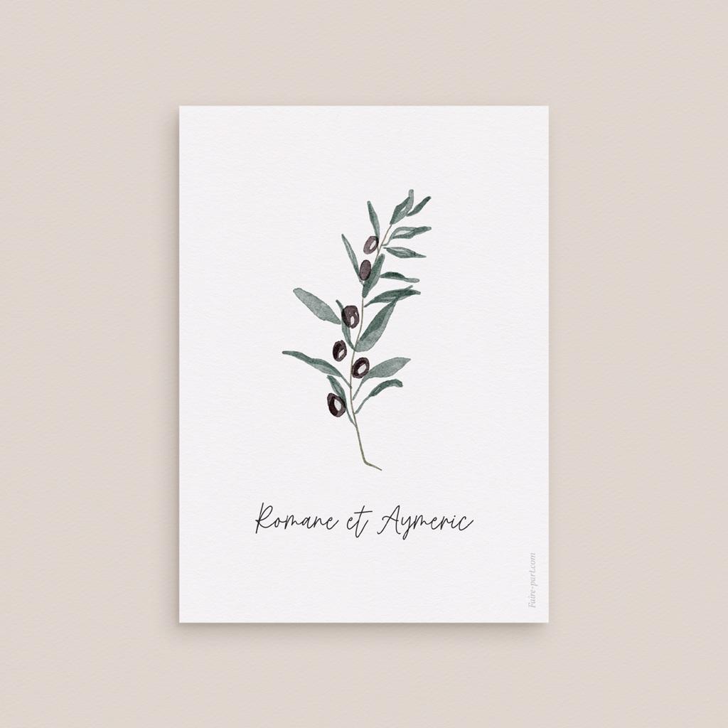 Carton réponse mariage Olivier Herbarium, Rsvp
