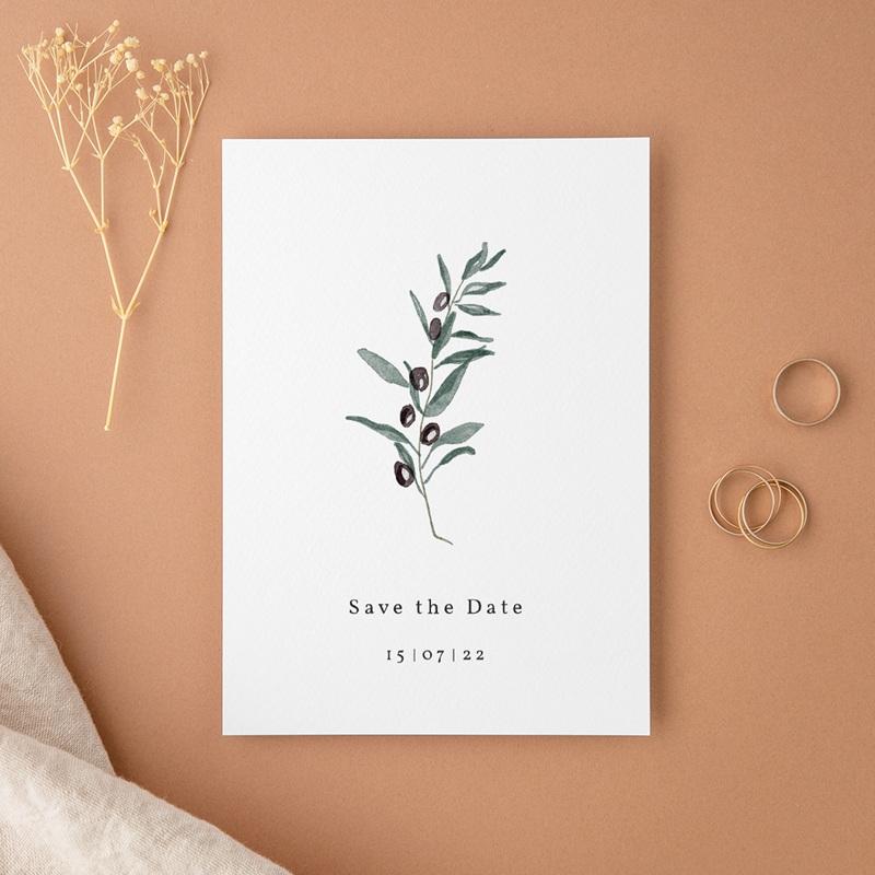 Save-the-date mariage Olivier Herbarium, Jour J