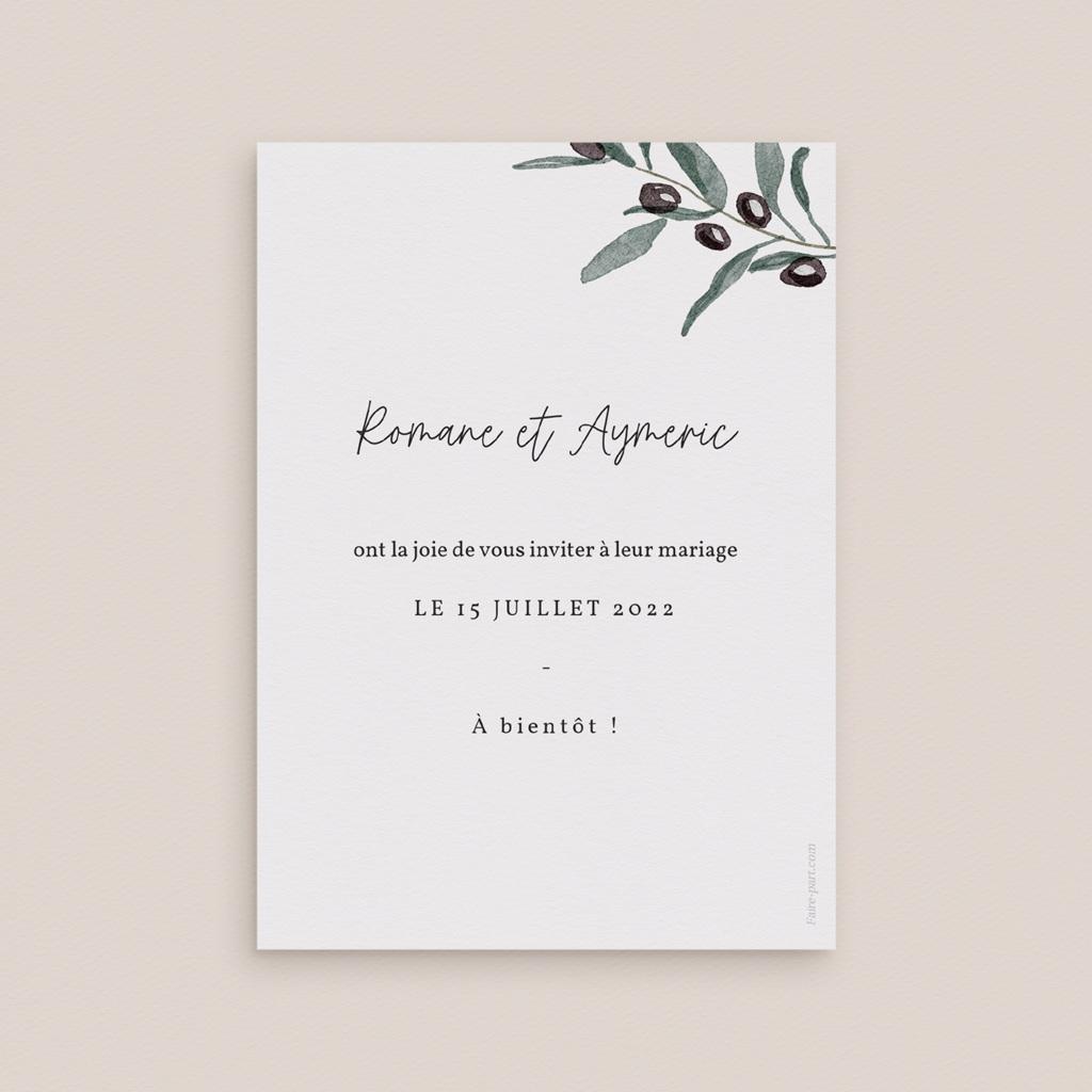 Save-the-date mariage Olivier Herbarium, Jour J pas cher