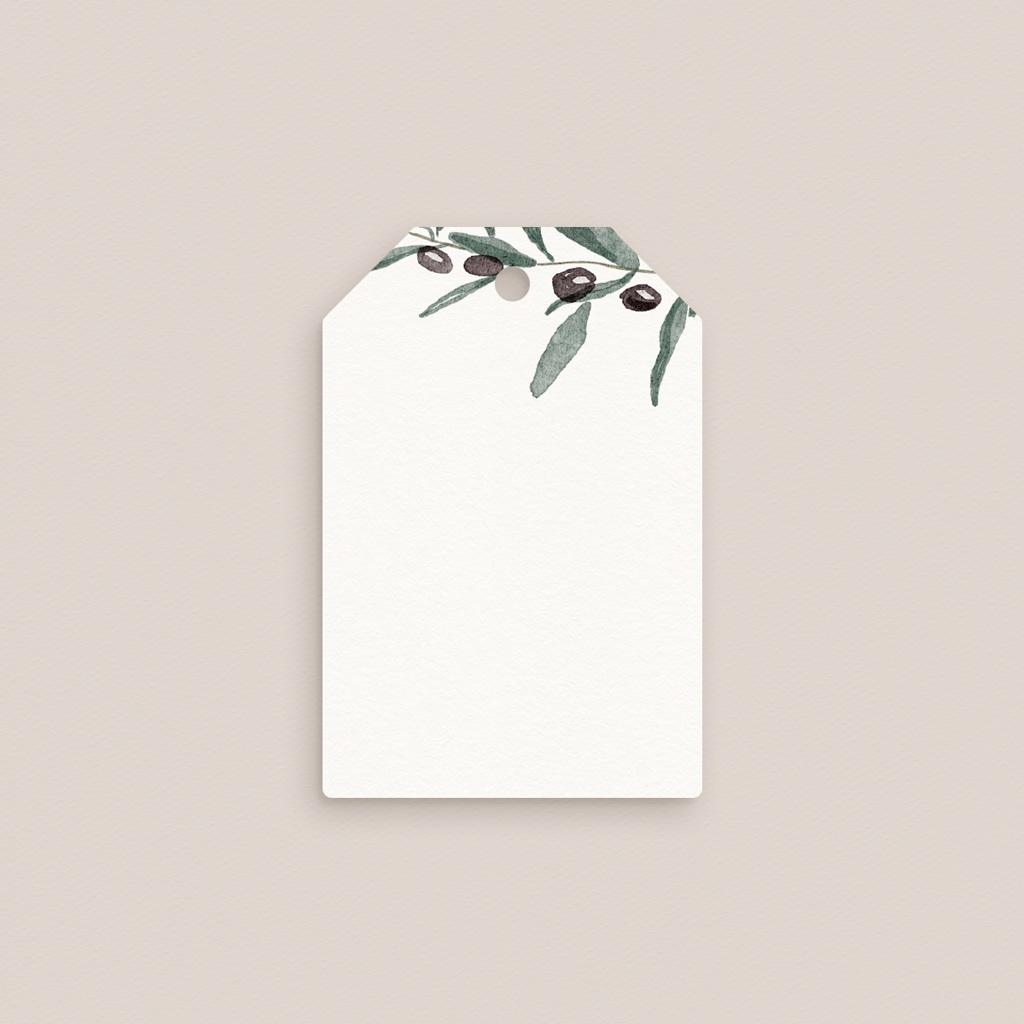 Marque-place mariage Olivier Herbarium, invité placé gratuit