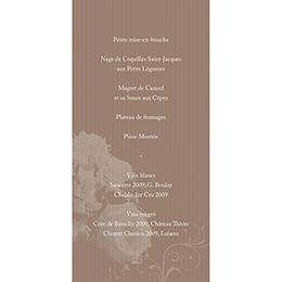 Menu mariage Bouquet  gratuit