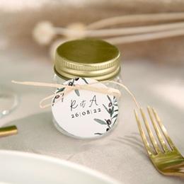 Etiquettes cadeaux mariage Olivier Herbarium, cadeau souvenir