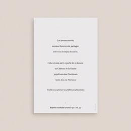Carte d'invitation mariage Olivier Herbarium, repas de noces pas cher