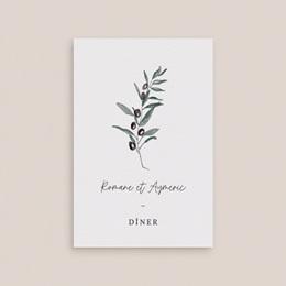 Carte d'invitation mariage Olivier Herbarium, repas de noces