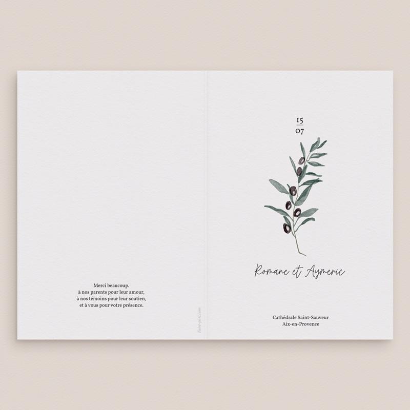 Livret de messe mariage Olivier Herbarium, Couverture Livret gratuit