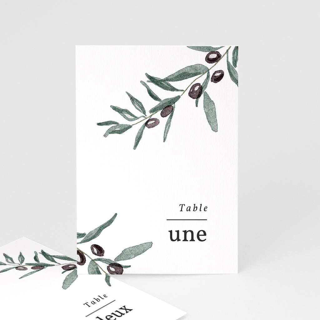 Marque table mariage Olivier Herbarium, lot de 3 repères