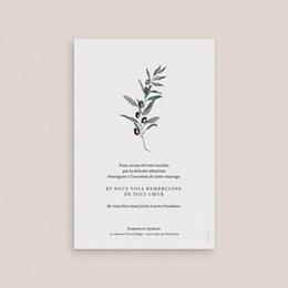 Carte de remerciement mariage Olivier Herbarium, 10 x 15 cm pas cher