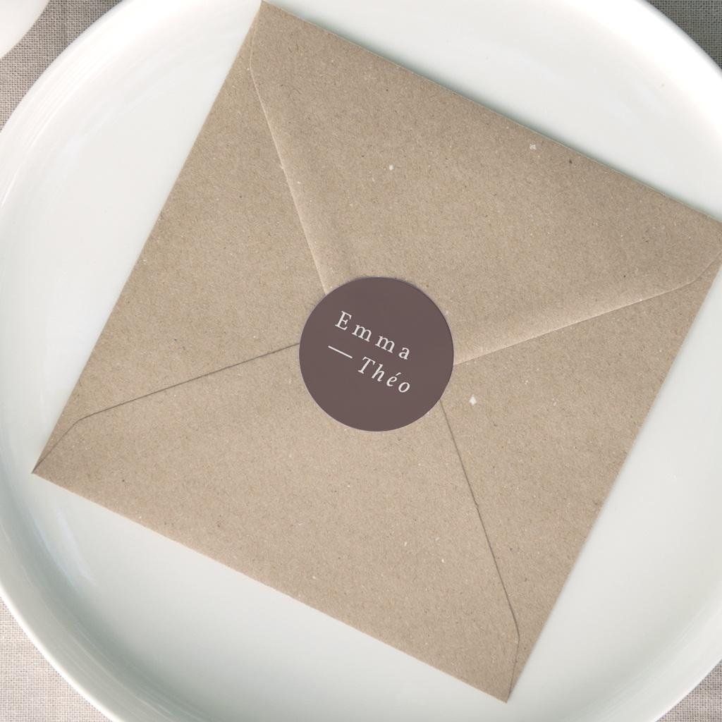 Etiquette enveloppes mariage Silhouette de Lys, Sticker