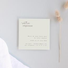 Carton réponse mariage Silhouette de Lys, Rsvp