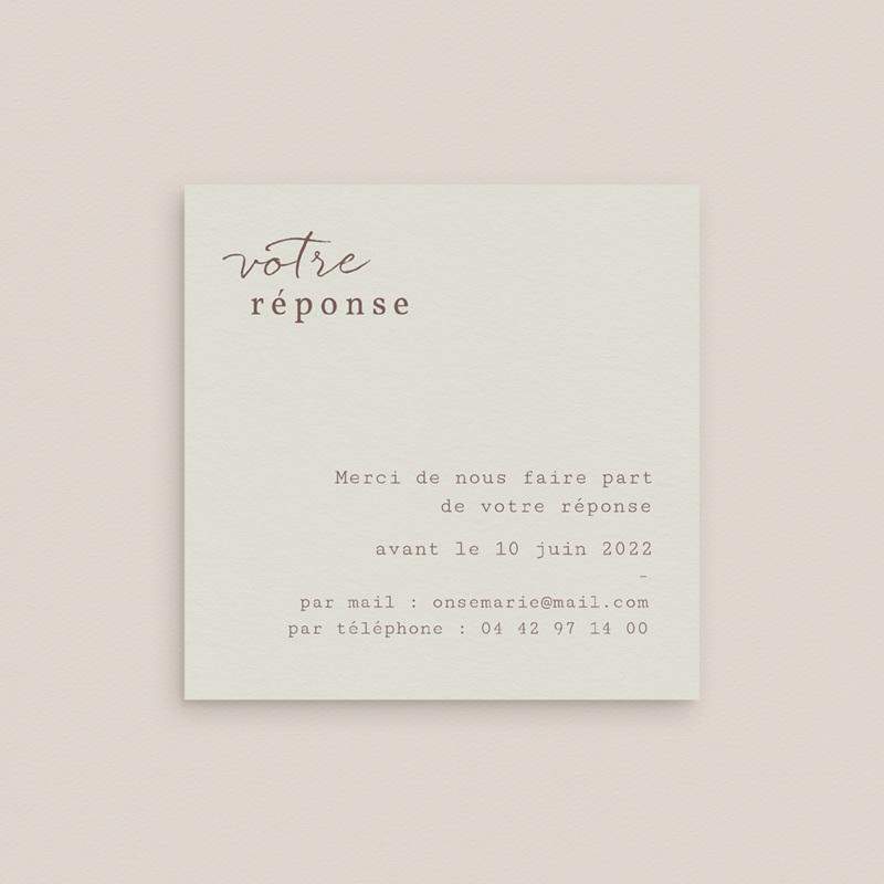 Carton réponse mariage Silhouette de Lys, Rsvp gratuit