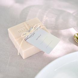 Marque-place mariage Silhouette de Lys, invité placé