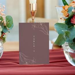 Marque table mariage Silhouette de Lys, Lot de 3 repères gratuit