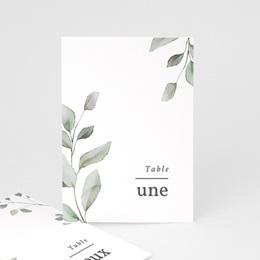 Marque table mariage Pastel de Fleurs & Feuillage, lot de 3