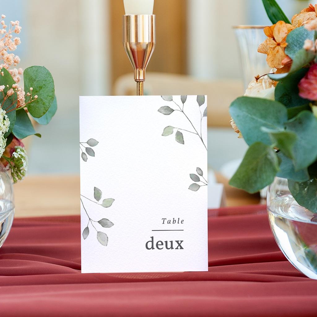Marque table mariage Pastel de Fleurs & Feuillage, lot de 3 gratuit