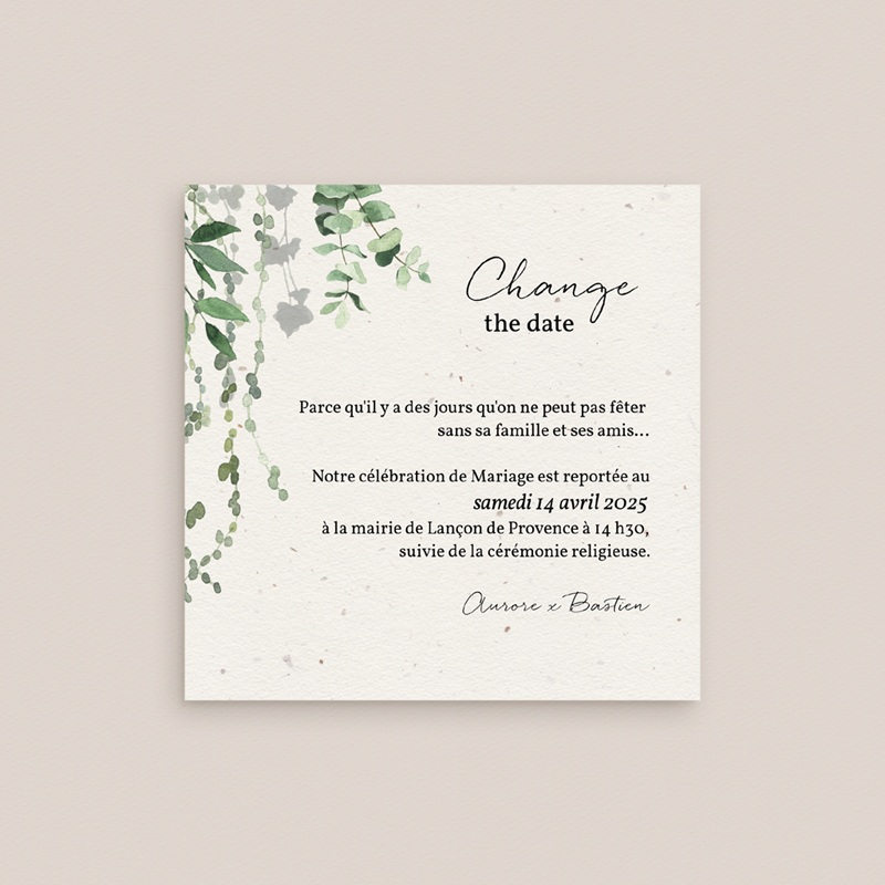Change the date mariage Nature Végétale, Nouvelle date gratuit