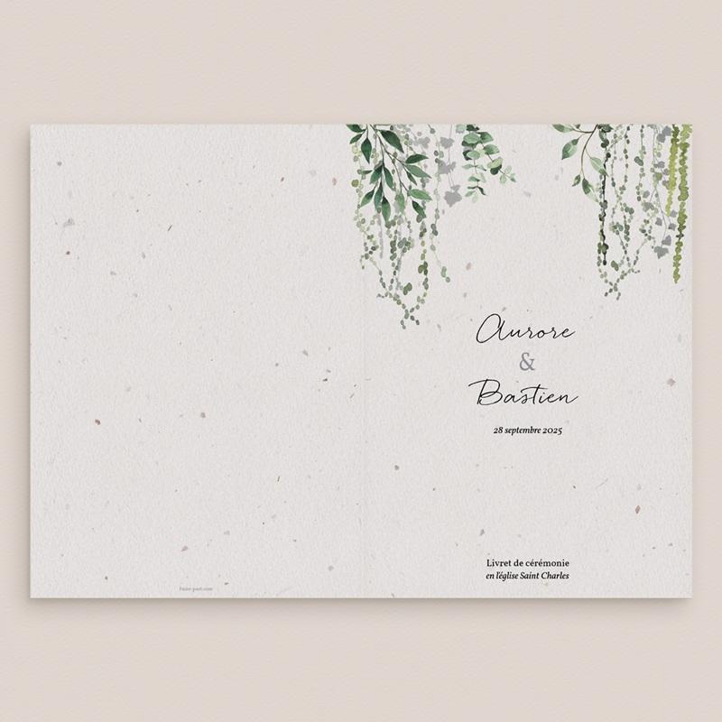 Livret de messe mariage Nature Végétale, Couverture, 15x22 cm gratuit