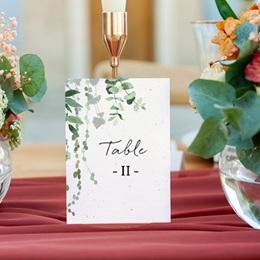 Marque table mariage Nature Végétale, Lot de 3 repères gratuit