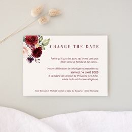 Change the date mariage Rubis Chic