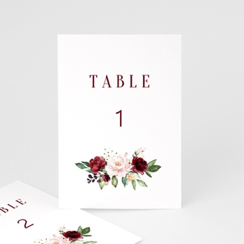 Marque table mariage Rubis Chic