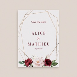 Save-the-date mariage Rubis Chic gratuit