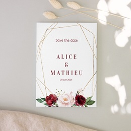 Save-the-date mariage Rubis Chic