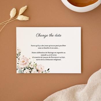 Change the date mariage Champêtre Romantique, Nouvelle Date