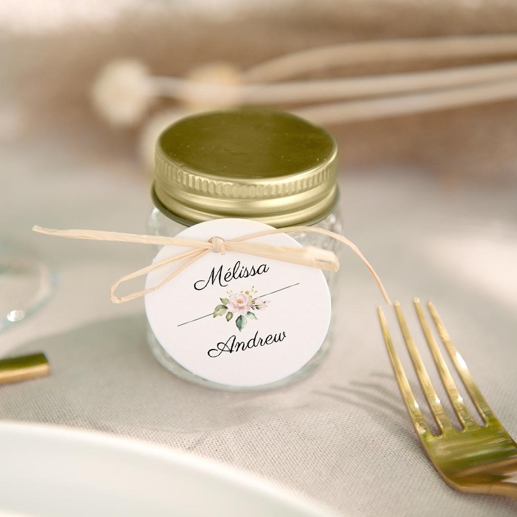 Etiquettes cadeaux mariage Champêtre Romantique, cadeau souvenir