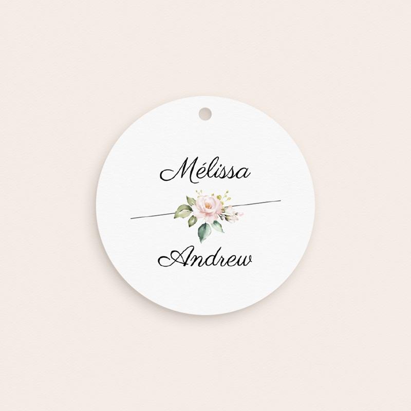 Etiquettes cadeaux mariage Champêtre Romantique, cadeau souvenir gratuit