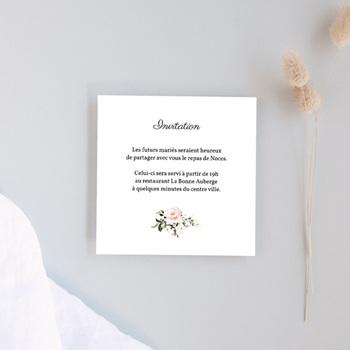 Carte d'invitation mariage Champêtre Romantique, réception