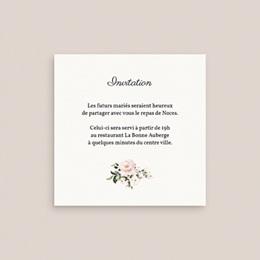 Carte d'invitation mariage Champêtre Romantique, réception gratuit