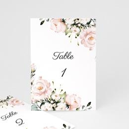 Marque table mariage Champêtre Romantique, lot de 3