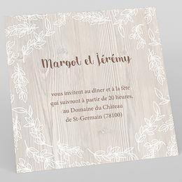 Carte d'invitation mariage Tendance bois
