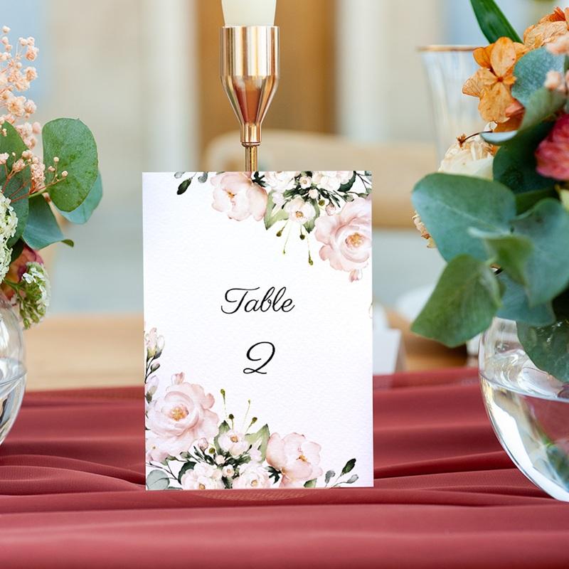Marque table mariage Champêtre Romantique, lot de 3 gratuit