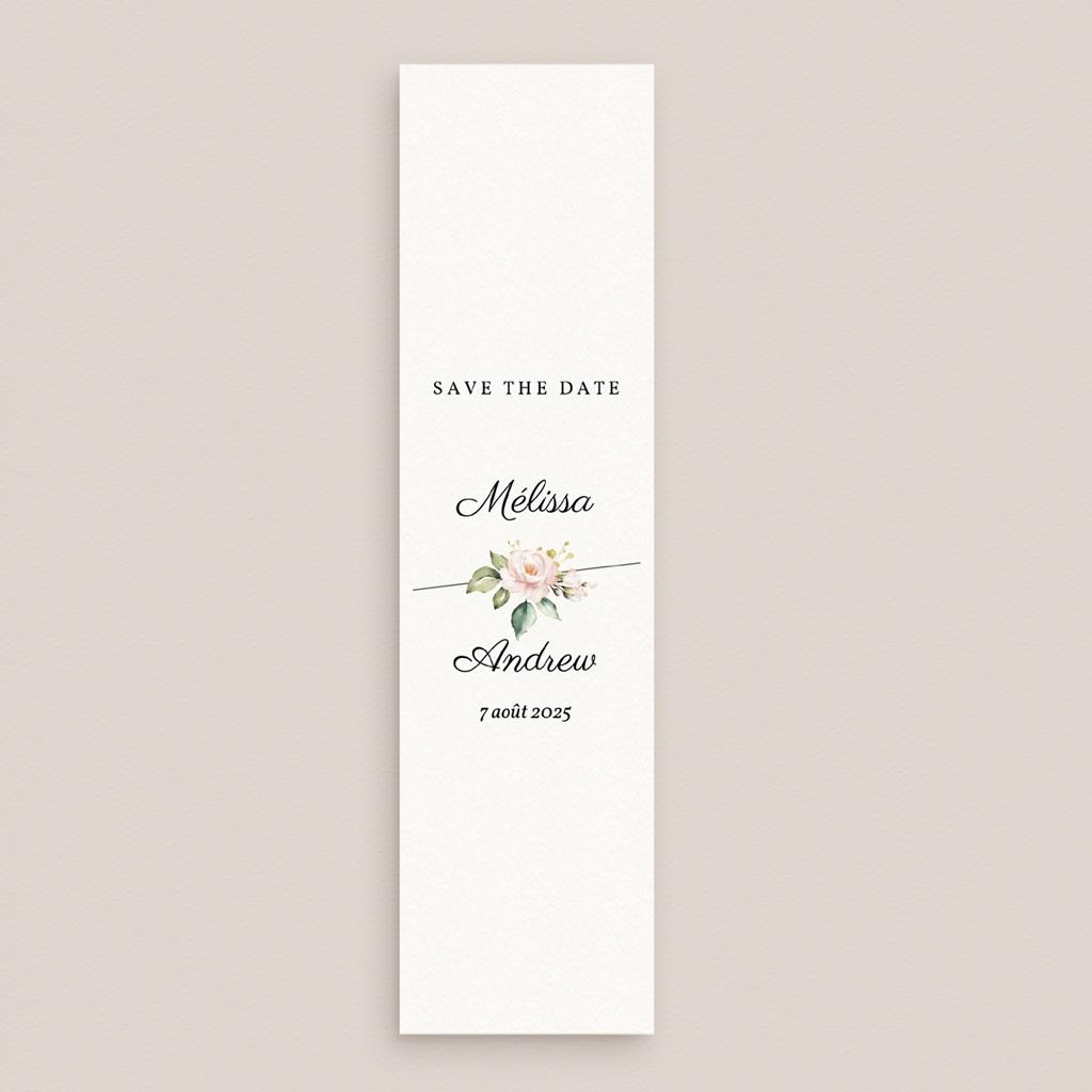 Save-the-date mariage Champêtre Romantique, marque-page gratuit
