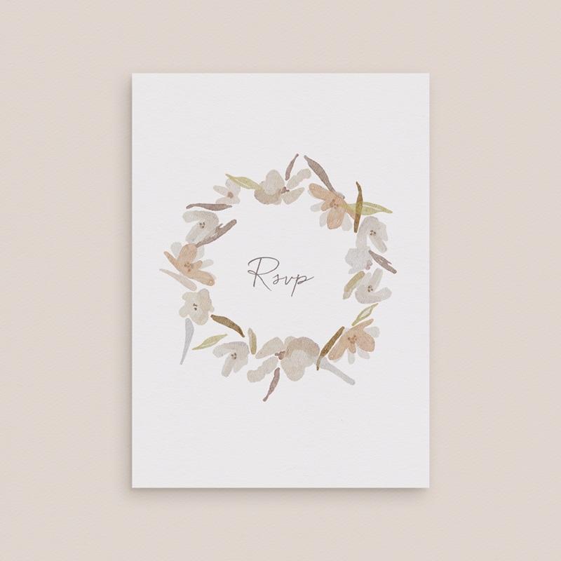Carton réponse mariage Couronne de Fleurs d'Oranger, Rsvp gratuit