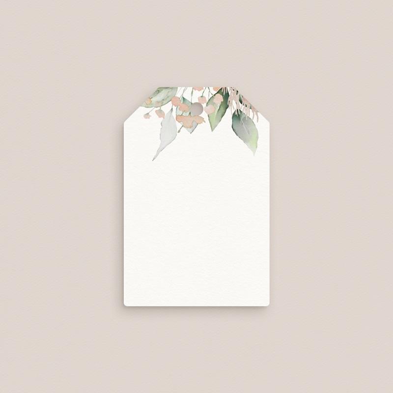Marque-place mariage Pastel de Fleurs & Feuillage, Invité gratuit
