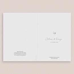 Livret de messe mariage Pastel de Fleurs & Feuillage, 15 x 22 cm gratuit