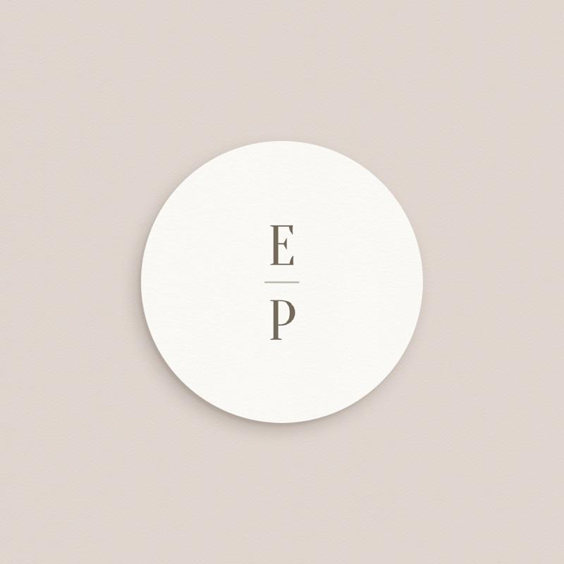 Etiquette enveloppes mariage Brins de Provence, Ø 4,5 cm pas cher