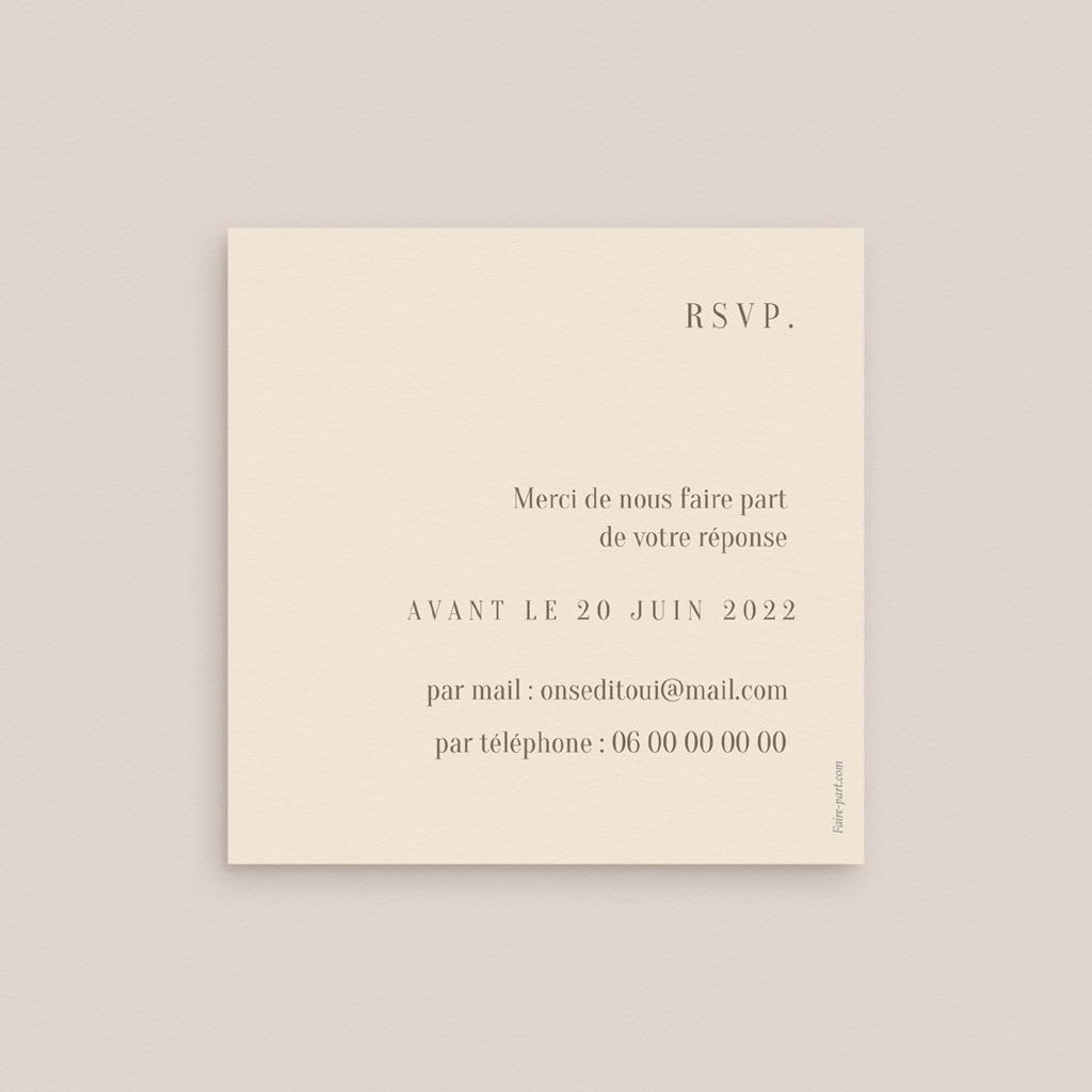 Carton réponse mariage Brins de Provence, Rsvp 10 x 10 pas cher