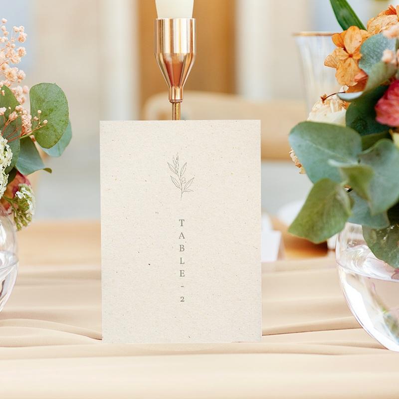 Marque table mariage Brin Olivier, naturel gratuit
