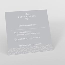 Carton réponse mariage Letter Press gris
