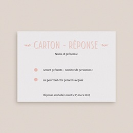 Carton réponse mariage Perfect Day Ardoise, Rsvp gratuit