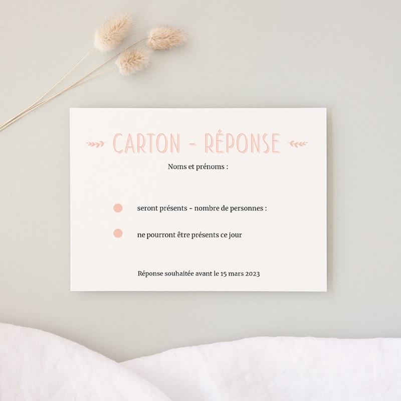 Carton réponse mariage Perfect Day Ardoise, Rsvp